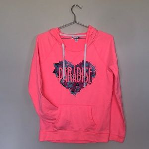 American Eagle Bright Pink Paradise Hoodie Size M
